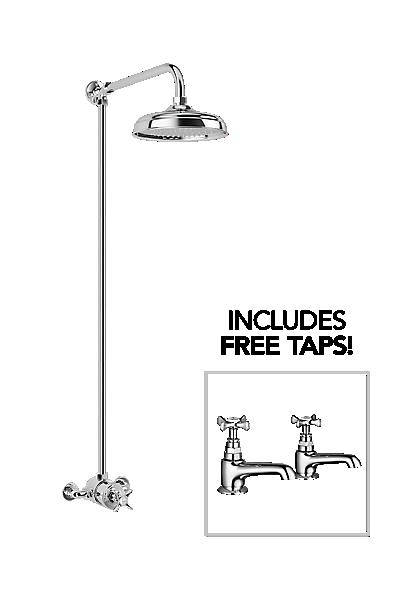 Mira Virtue ER + Free Virtue bath pillar taps