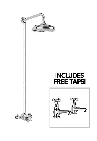 Mira Virtue ER + Free Virtue basin pillar taps