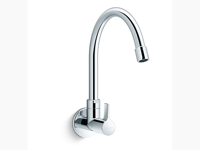 Wall Mount Kitchen Faucet Cold Only In Polished Chrome K 74054in 4 Cp Kohler