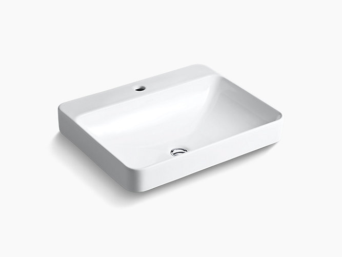 Forefront Rectangular Vessel Lavatory With Single Faucet