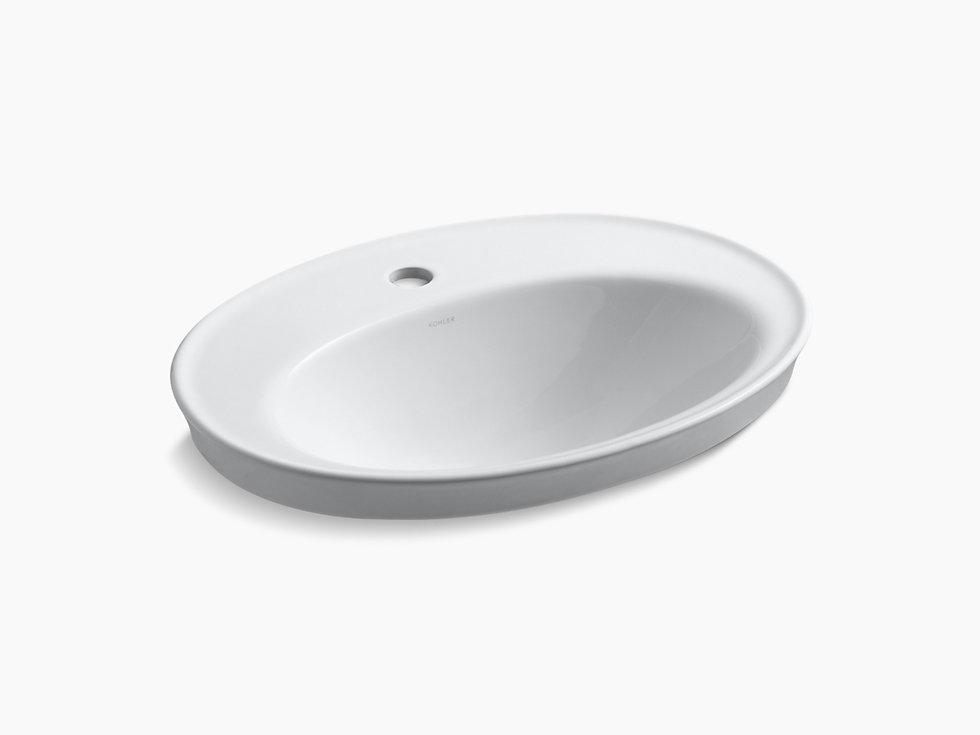 Serif Self Rimming Lavatory With Single Faucet Hole K