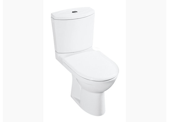 Odeon Two Piece S-trap toilet with Quiet-Close seat & cover, 305mm rough-in 8766T-S-0