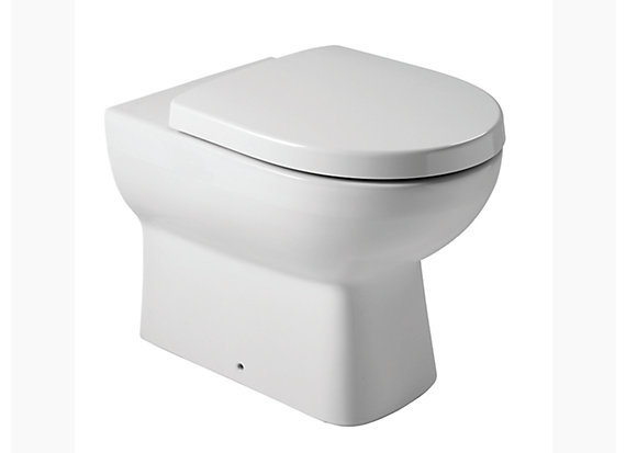 Panache floor-mount toilet with Quiet-Close™ seat and cover (require tank) 4104IN-S-00
