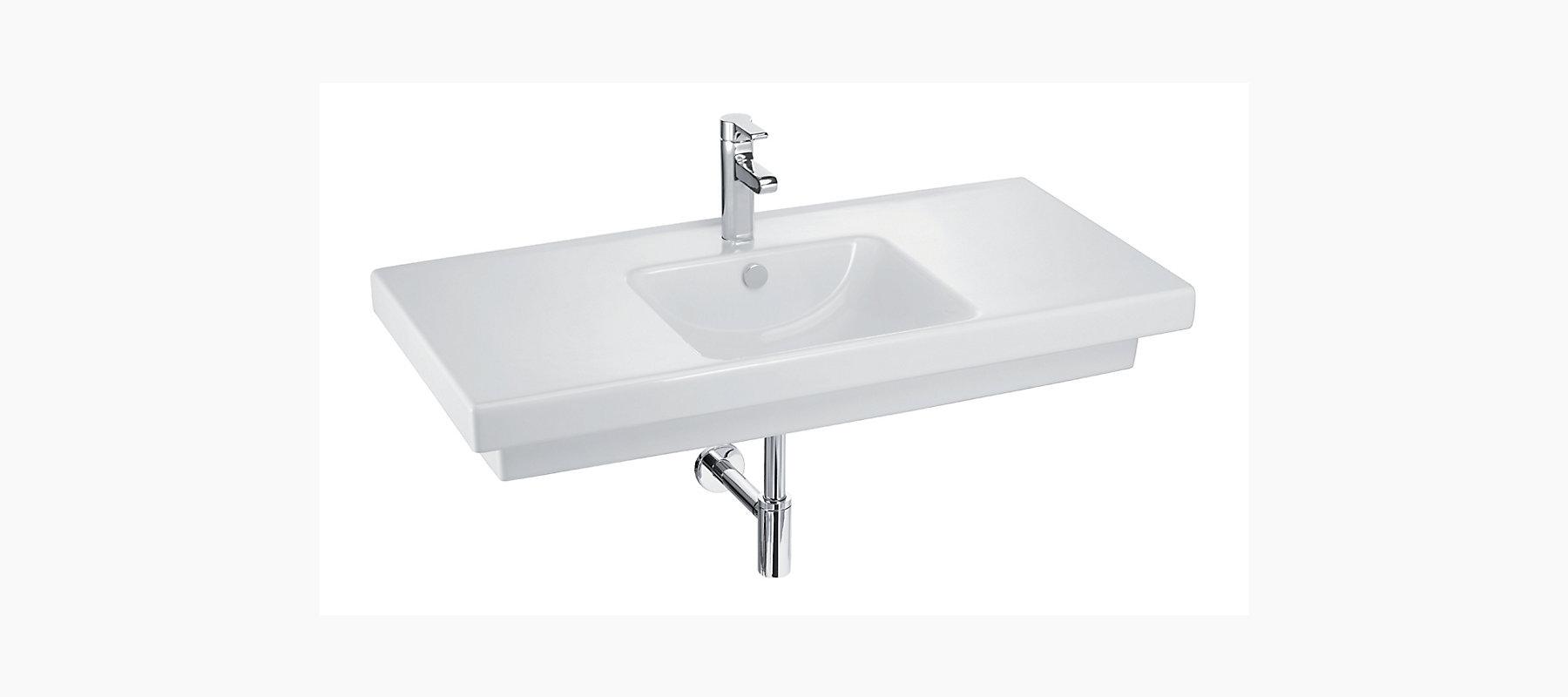 Reach Vanity Top With Single Faucet Hole K 18571t 1 Kohler