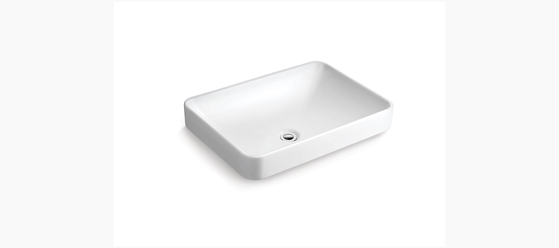 Forefront Rectangular Vessel Lavatory Without Faucet Hole