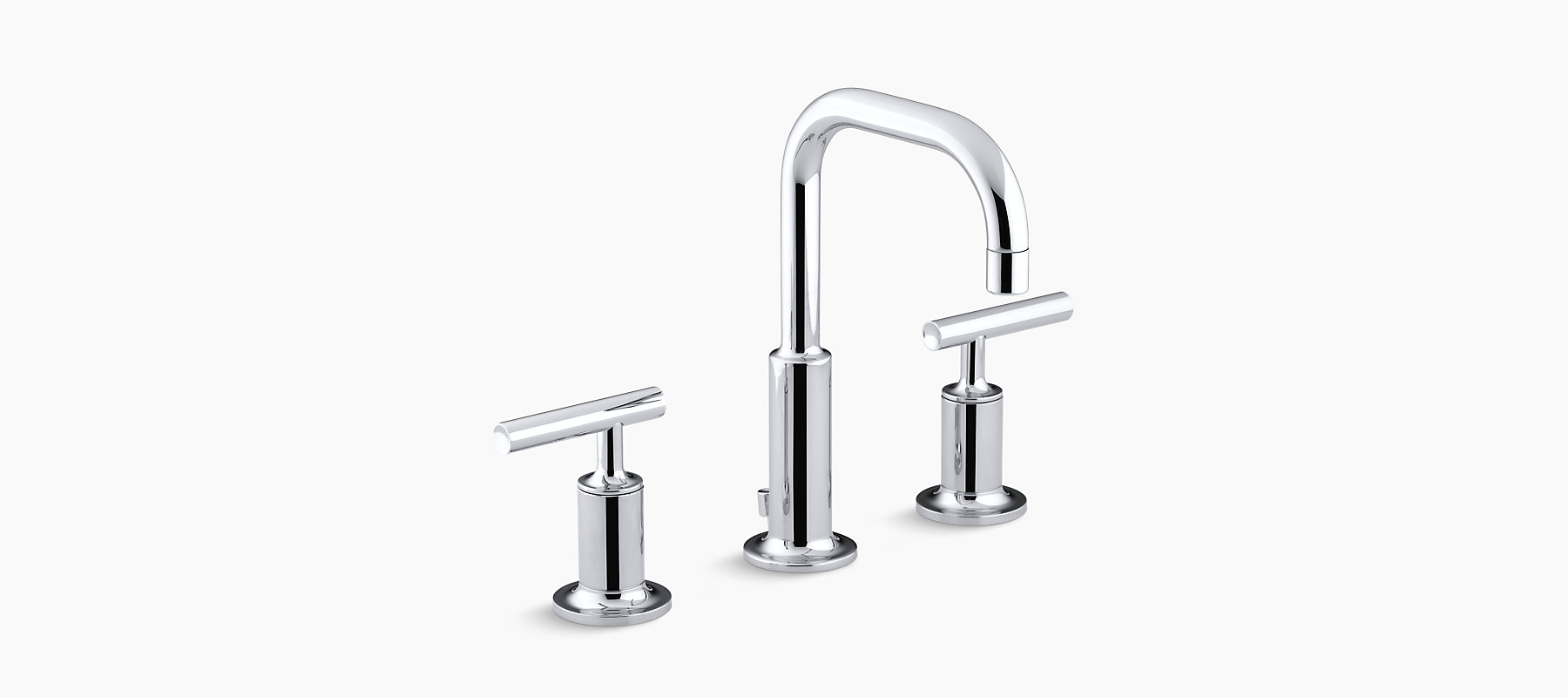 Purist Widespread Lavatory Faucet With Low Gooseneck Spout