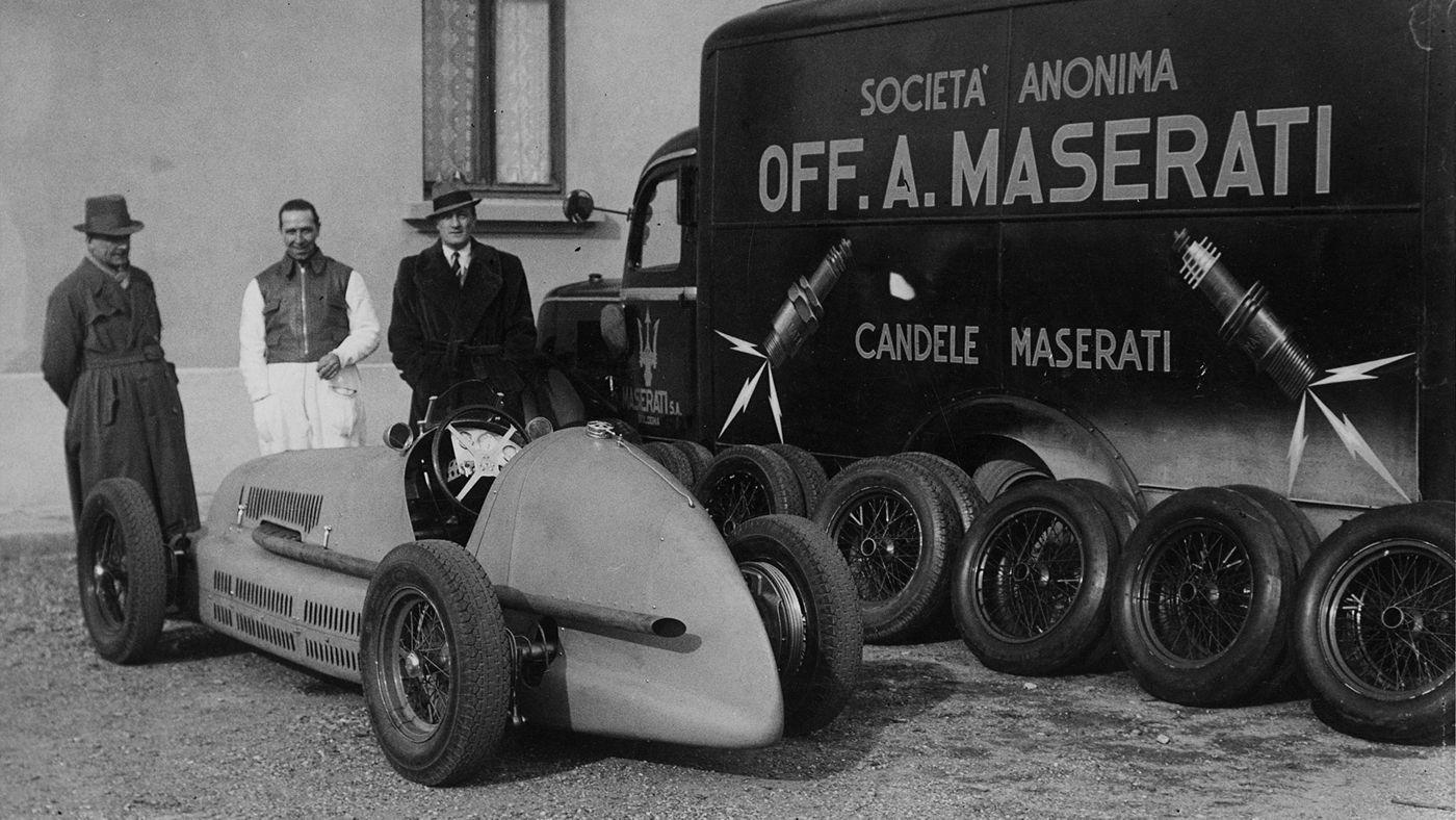 Maserati Classic - CM6 1936 - Back side view