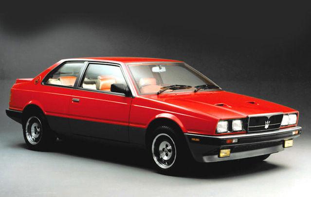 Maserati Classic - Biturbo - carrosserie rouge - vue latérale