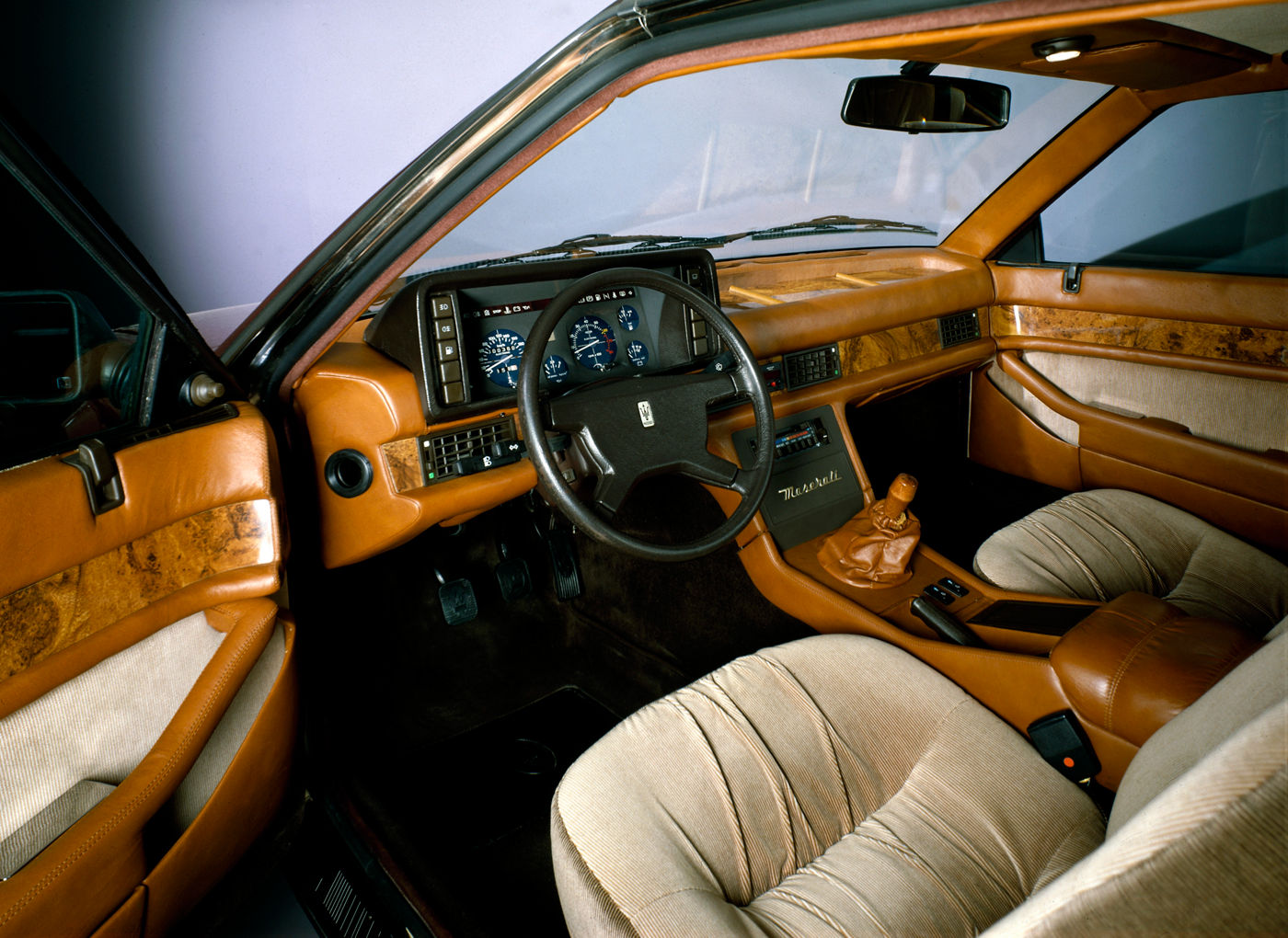 1981 Maserati Biturbo - interior view of the classic sporty coupe