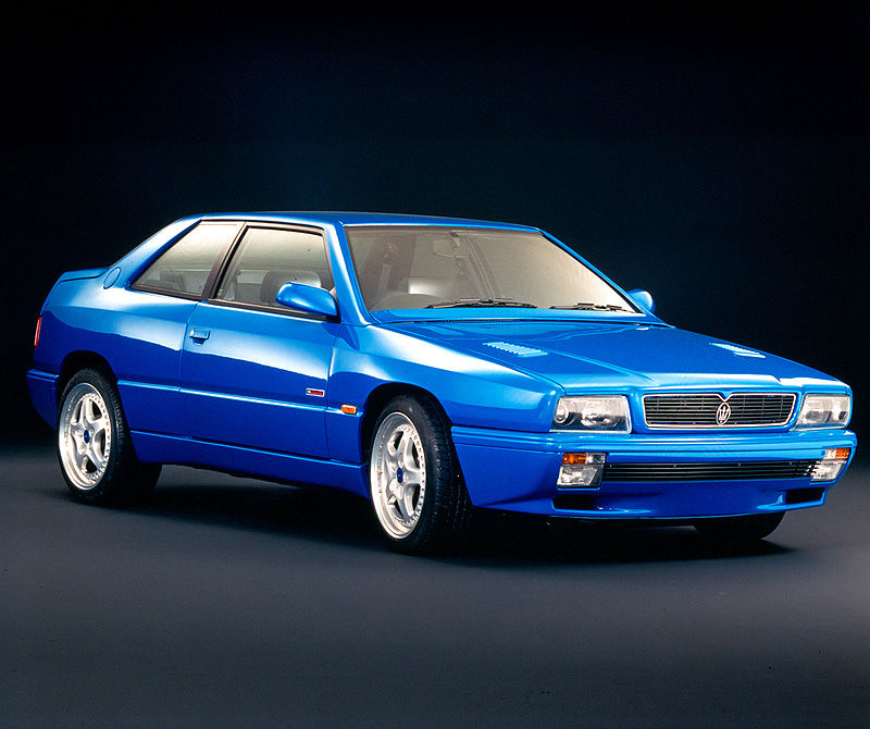 1995 Maserati Ghibli Cup for public roads - the classic car model in blue