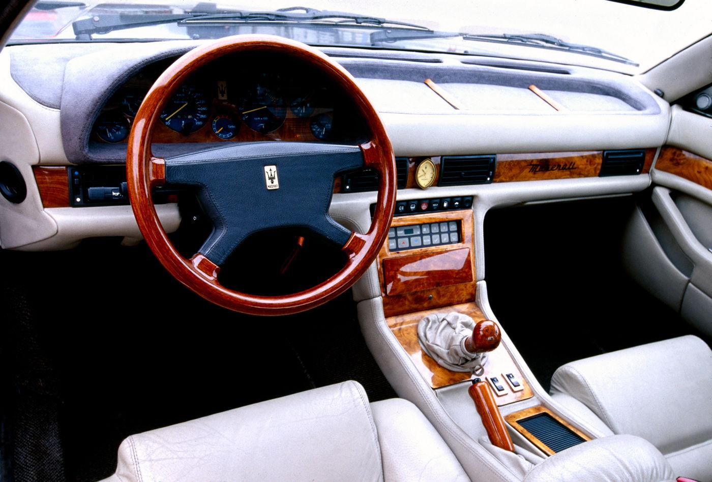 1989 Maserati Karif - Biturbo - interior of the classic car model