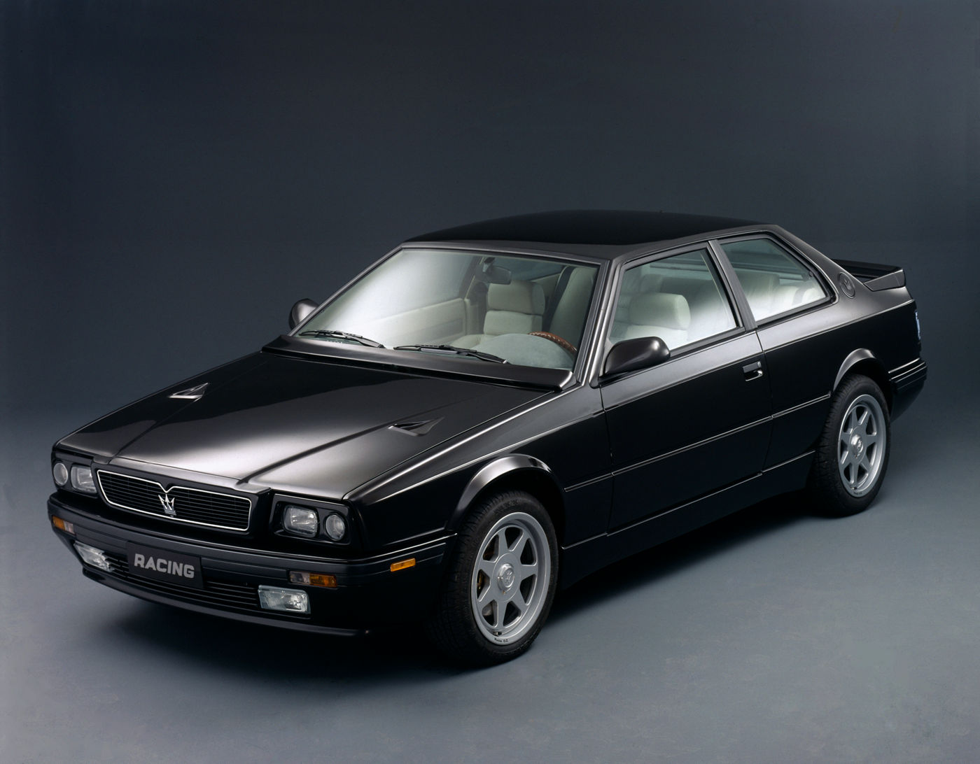 1990 Maserati Racing - exterior of the classic sports car model in black
