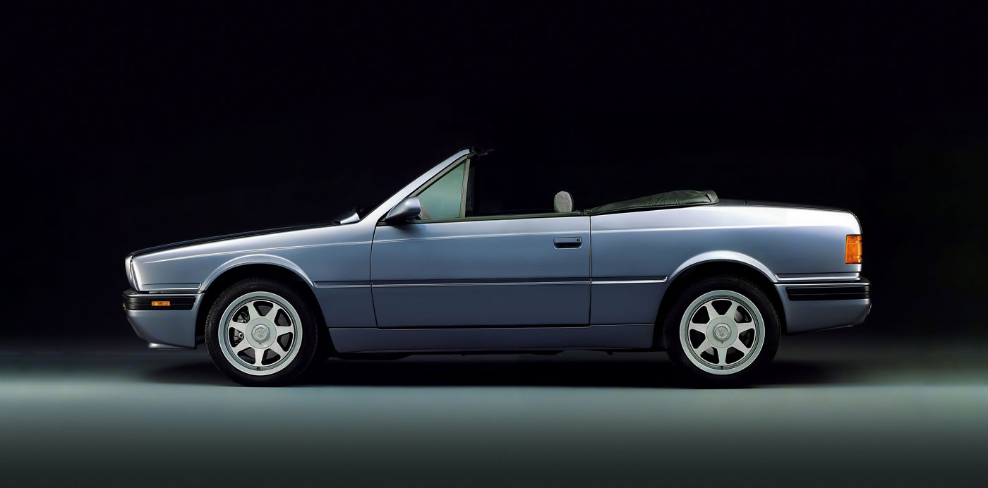 1991 Maserati Spyder III - side view of the classic convertible