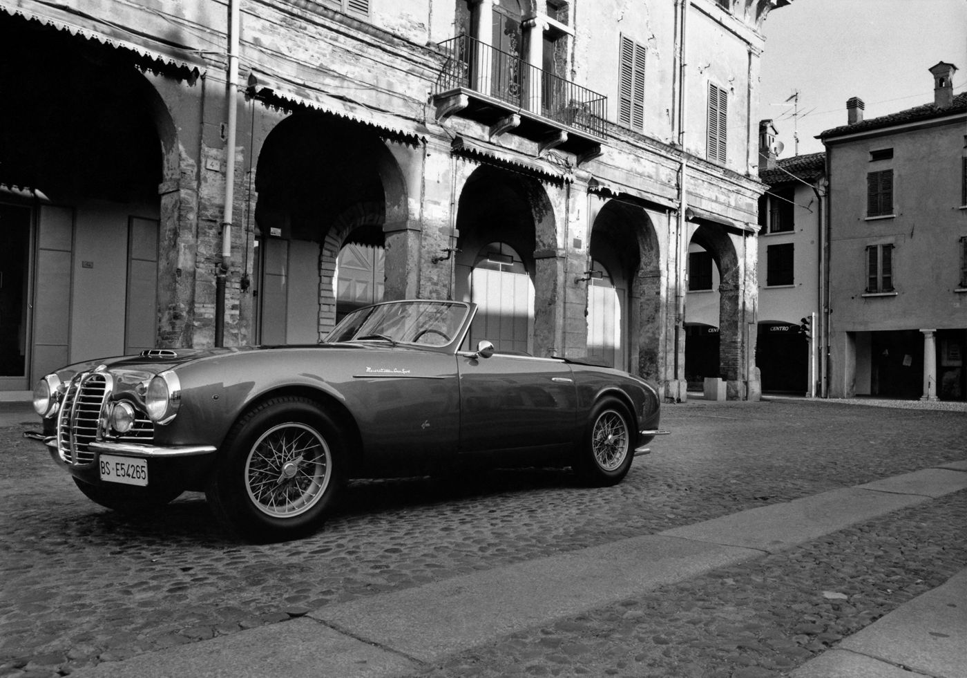 1950 Maserati A6G 2000 - the classic car model on an Italian road