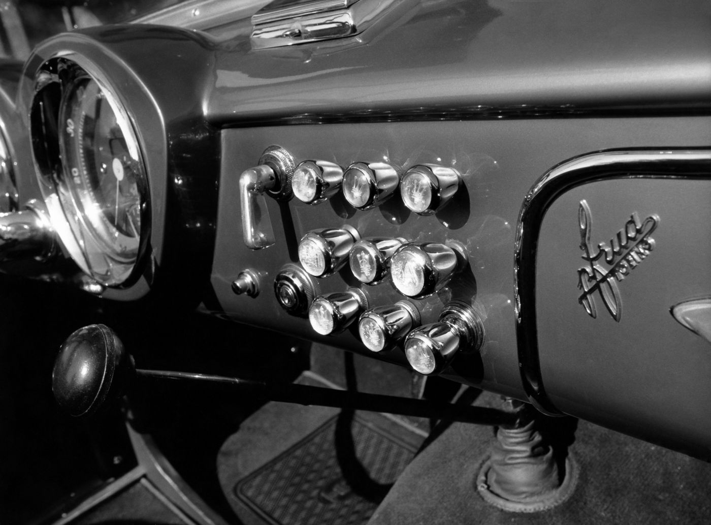 1950 Maserati A6G 2000 - interior details of the classic car model