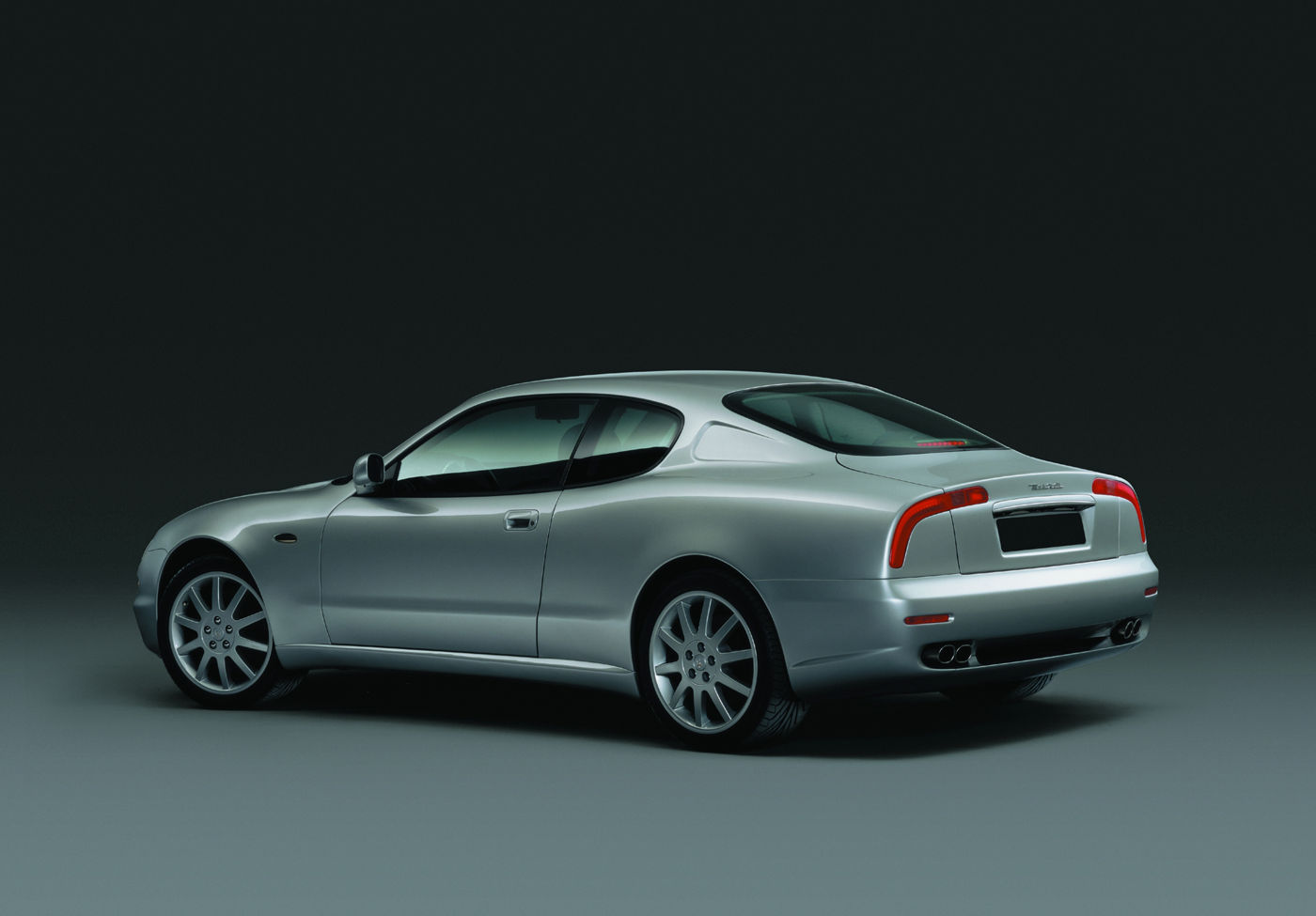 1998 Maserati 3200GT - gray, rear view