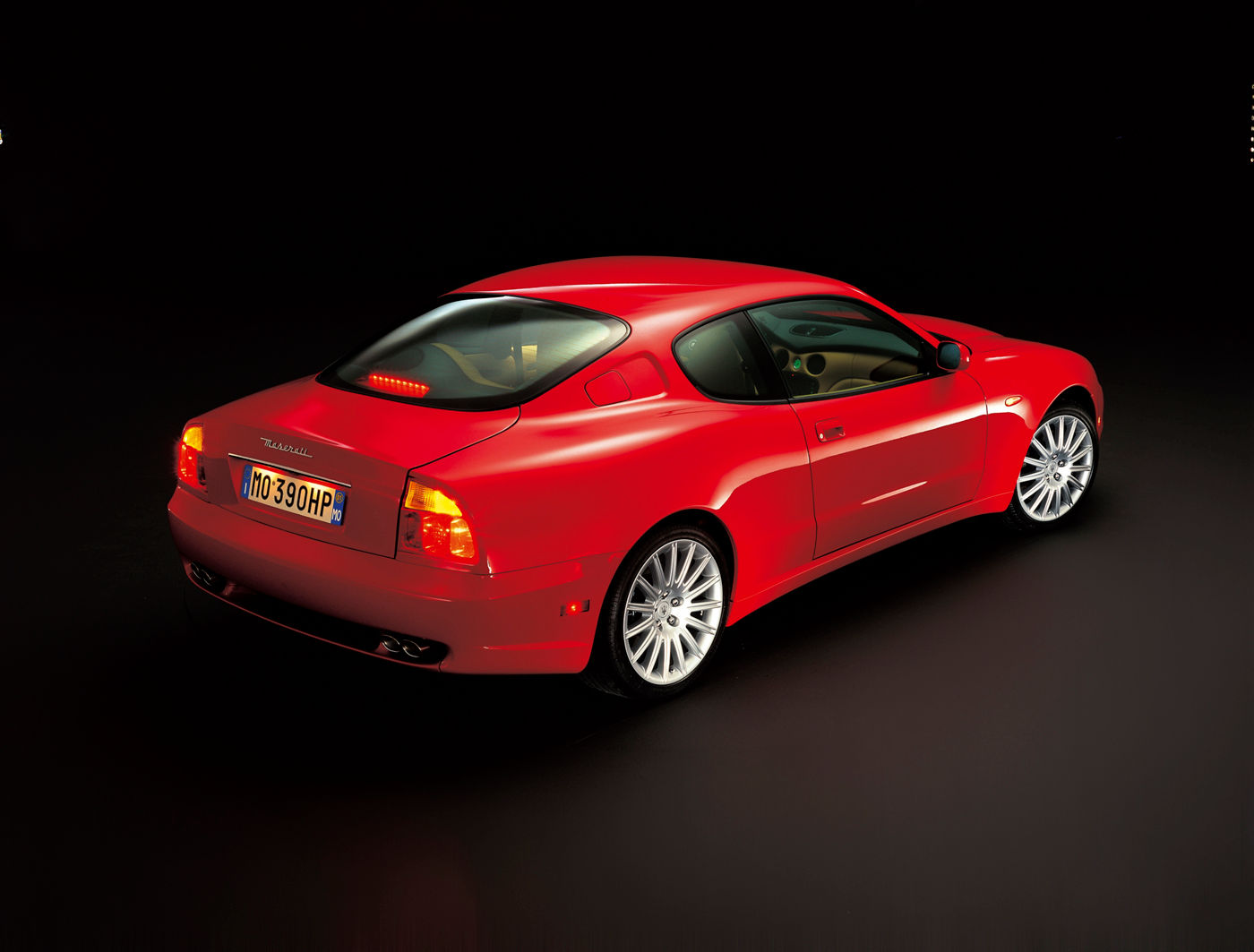 2002 Maserati GranTurismo Coupe - rear view of the classic car model in red