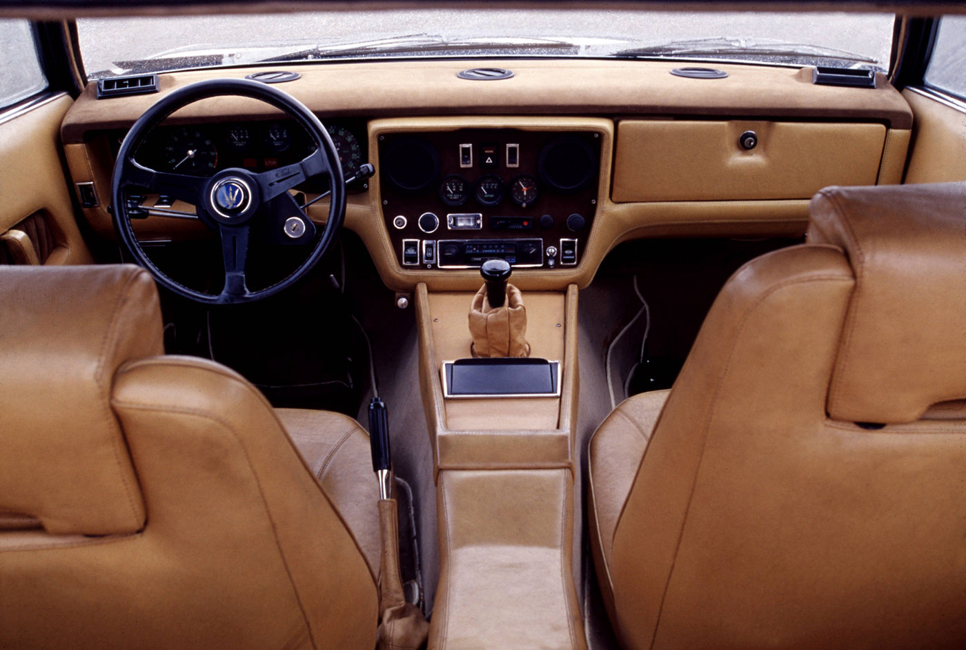 1974 Maserati Khamsin - interior view of the historical 2-door coupe