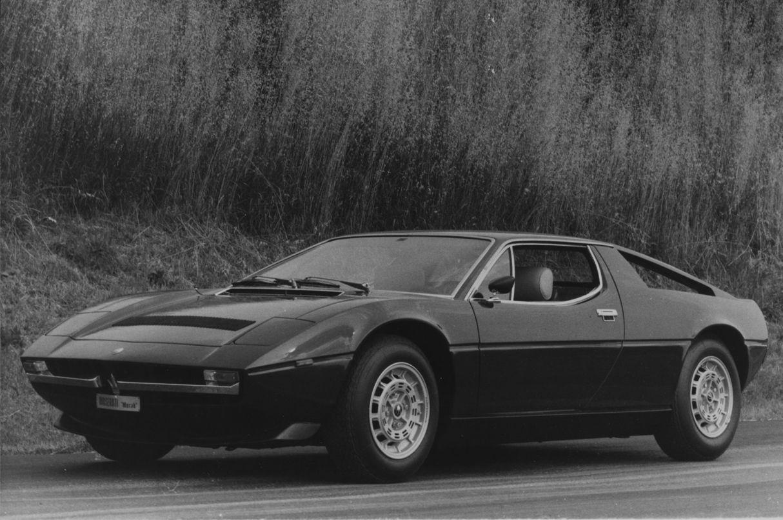 1972 Maserati Merak - exterior view of the classic mid-engine coupe