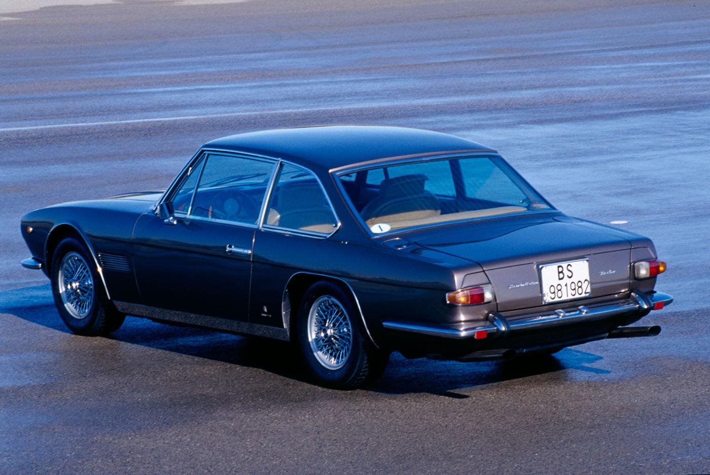 Maserati Classic - GranTurismo Mexico - carrosserie marron - vue latérale postérieure