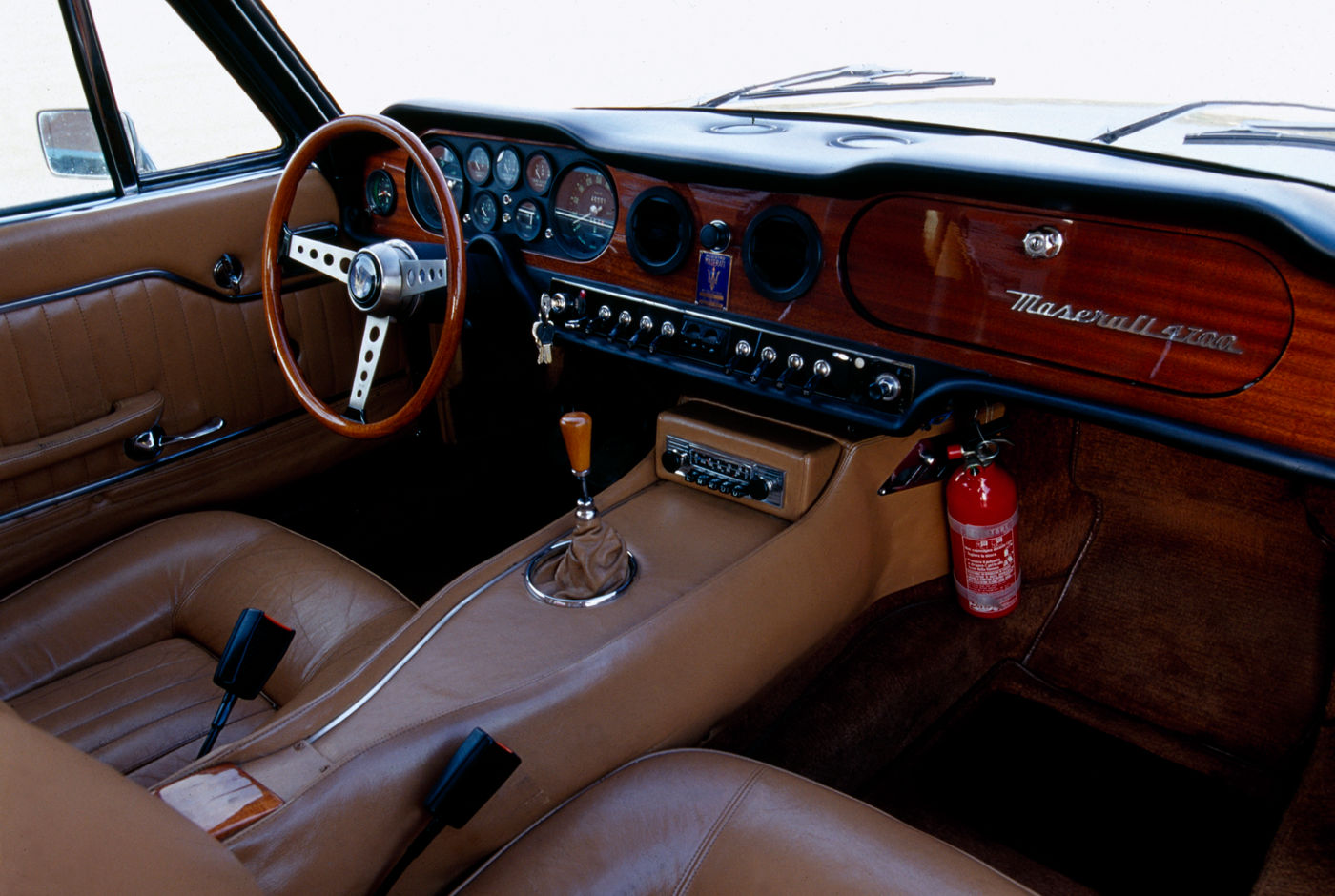 1966 Maserati Mexico - interior view of the classic sports car four-seater model