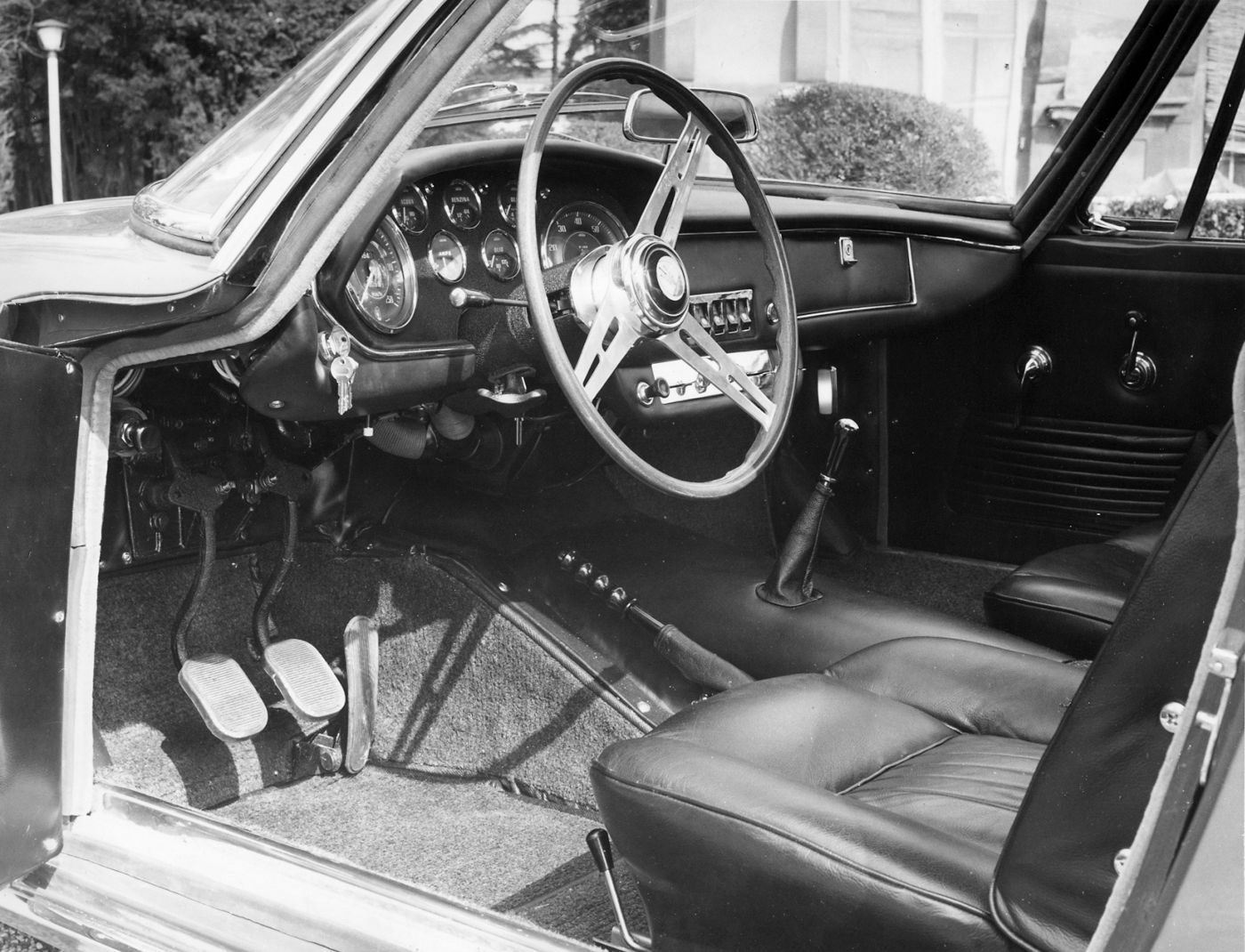 1964 Maserati Mistral Spyder - interior view of the classic sports car model