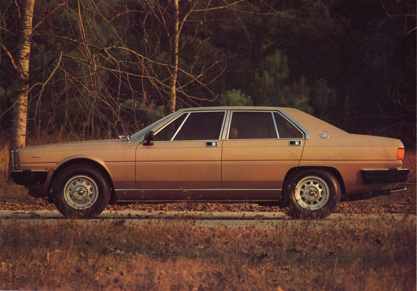 1978 Maserati Quattroporte III - exterior view of the classic 5-seater sedan
