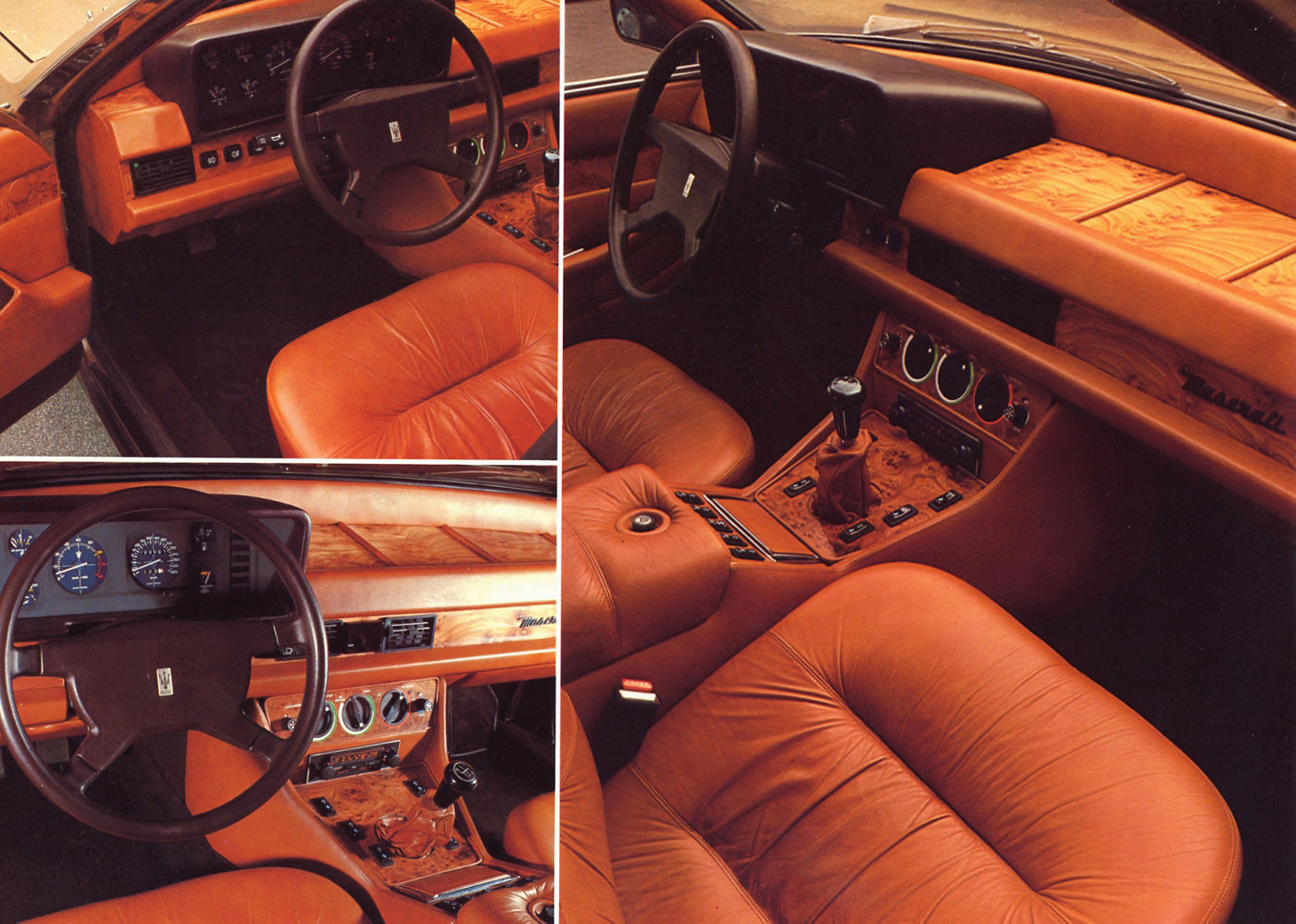 1978 Maserati Quattroporte III - interior view of the classic 5-seater sedan
