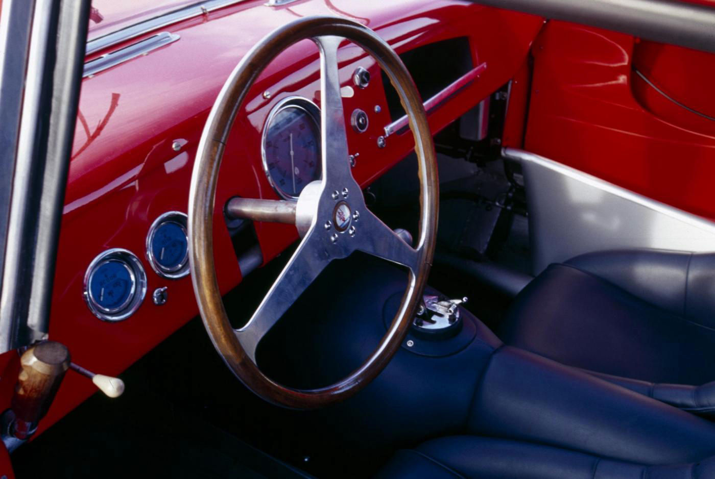 1953 Maserati 2000 Sport - A6GCS Berlinetta - interior view of the classic 2-seater