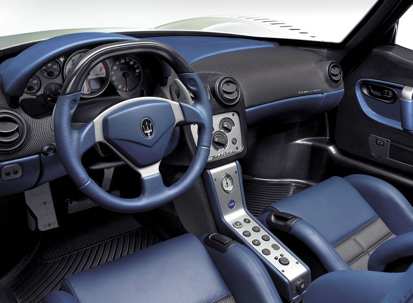 2004 Maserati MC12 Stradale (road-going) - the GT racing car interior