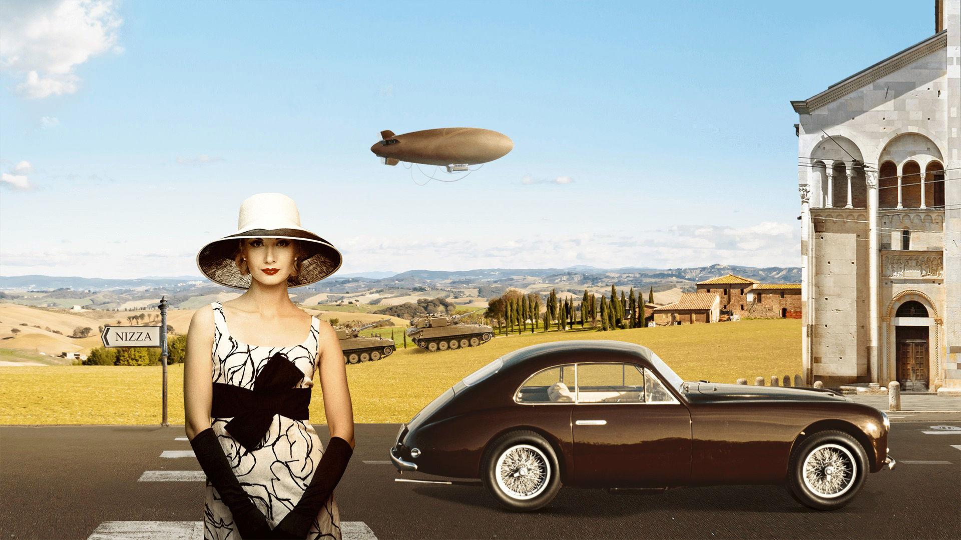 Storia di Maserati - 1940: Maserati A6 1500 in un tipico paesaggio italiano