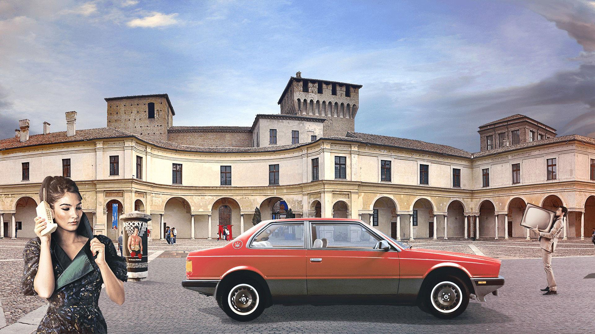Storia di Maserati - 1980: Maserati Biturbo in una città italiana