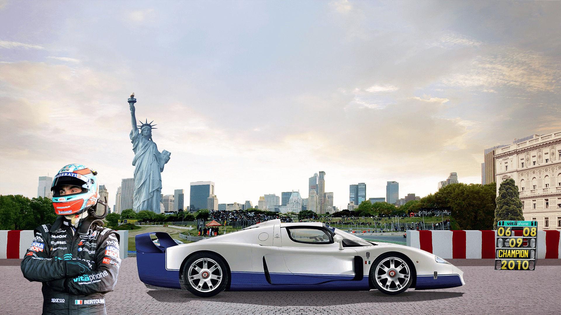 Storia di Maserati - 2000: Auto da corsa Maserati a New York