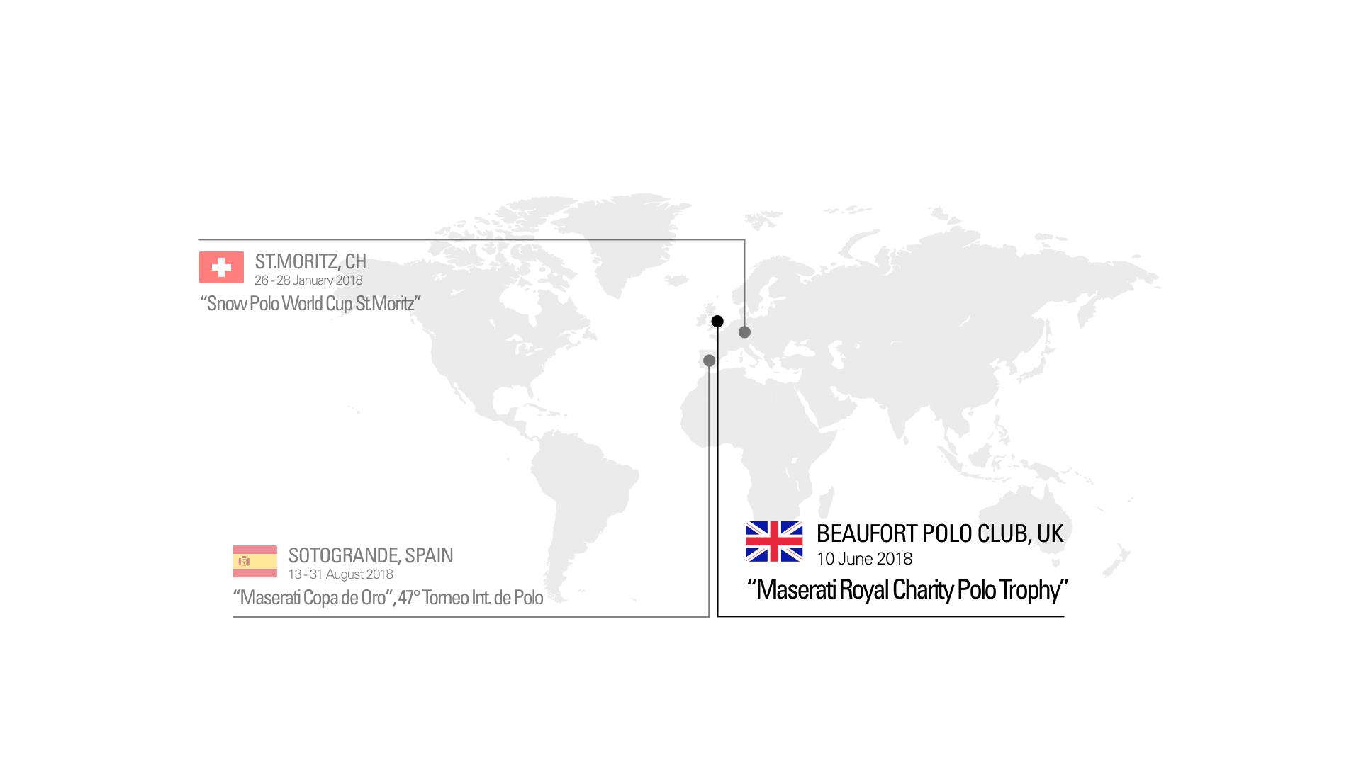 La mappa del Maserati Polo Tour 2018 - in collaborazione con La Martina