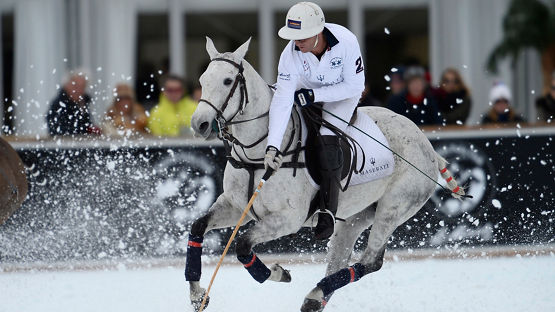 "Maserati Polo Tour 2016 started with the ""Snow Polo World Cup St. Moritz"" in full speed"