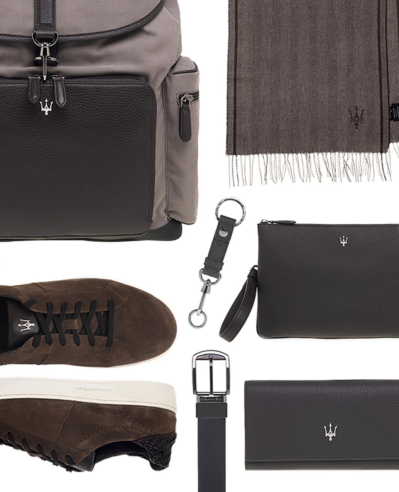 Ermenegildo Zegna pour Maserati accessoires en cuir et soie