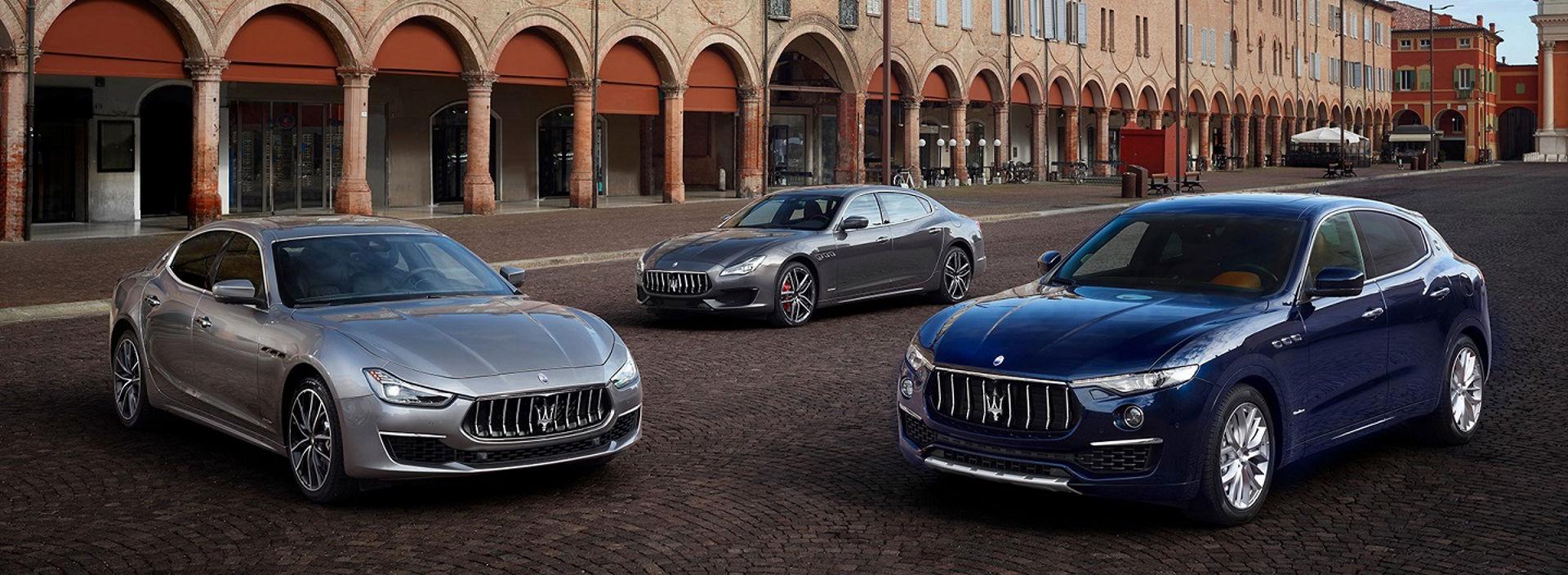 Maserati corporate sales range