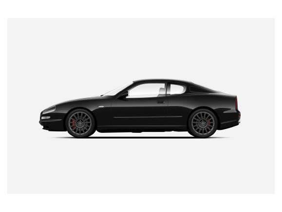 Maserati GT assetto da corsa d'epoca - disegno, vista laterale
