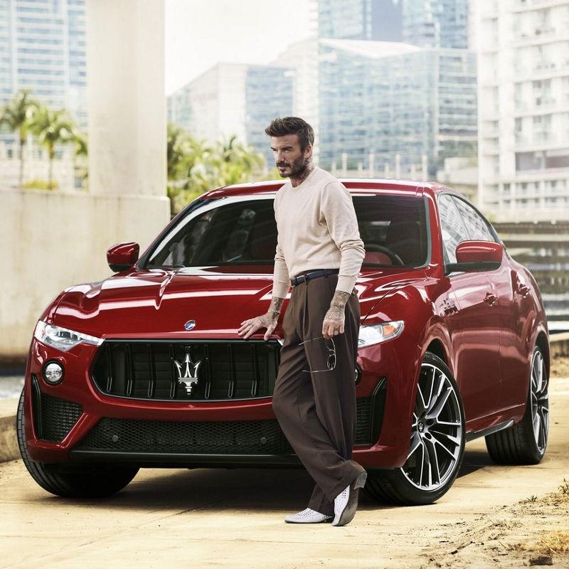 Maserati und David Beckham: Luxus-SUV Maserati Levante Trofeo in Rot
