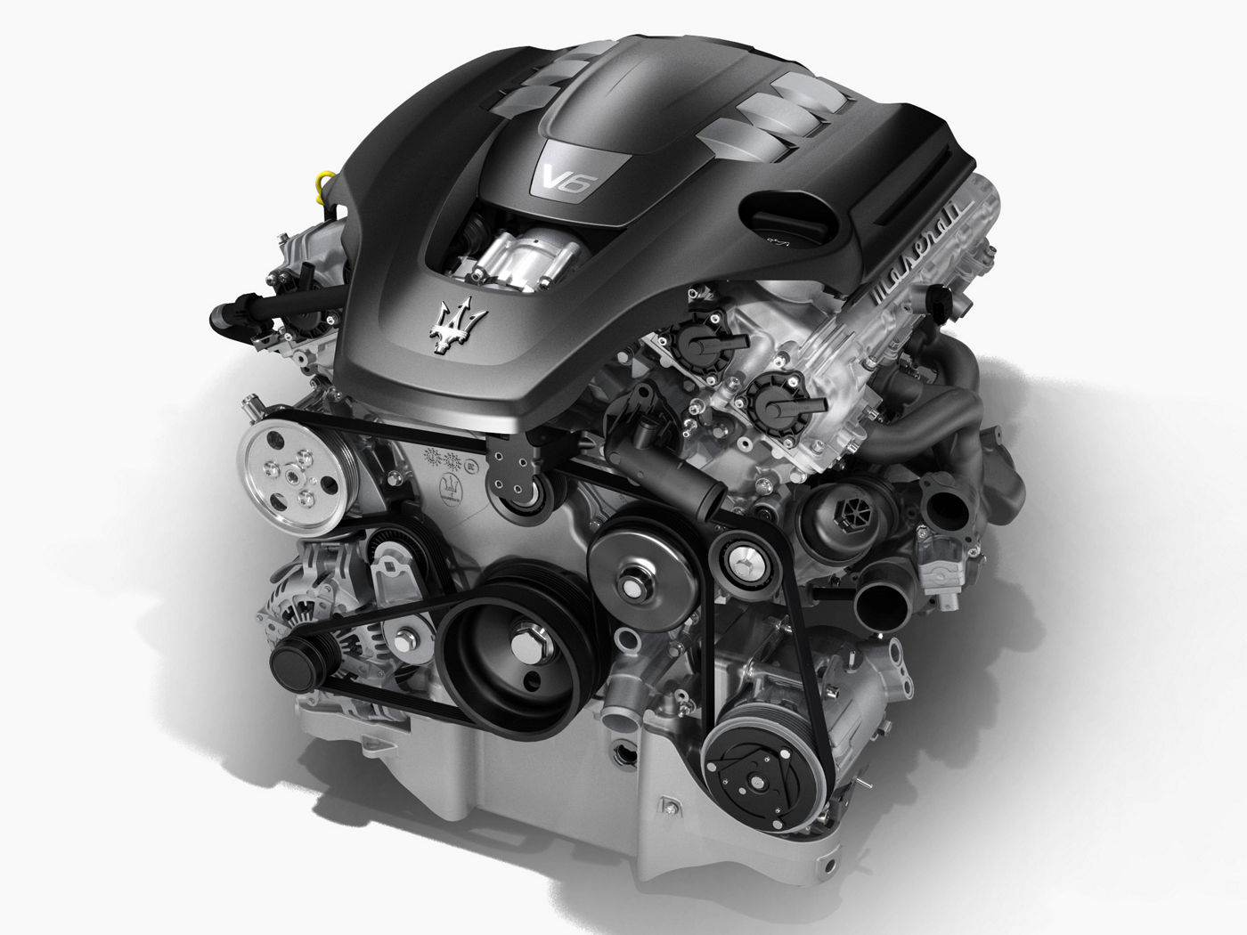 V6 engine for the Maserati Ghibli model: structure and details