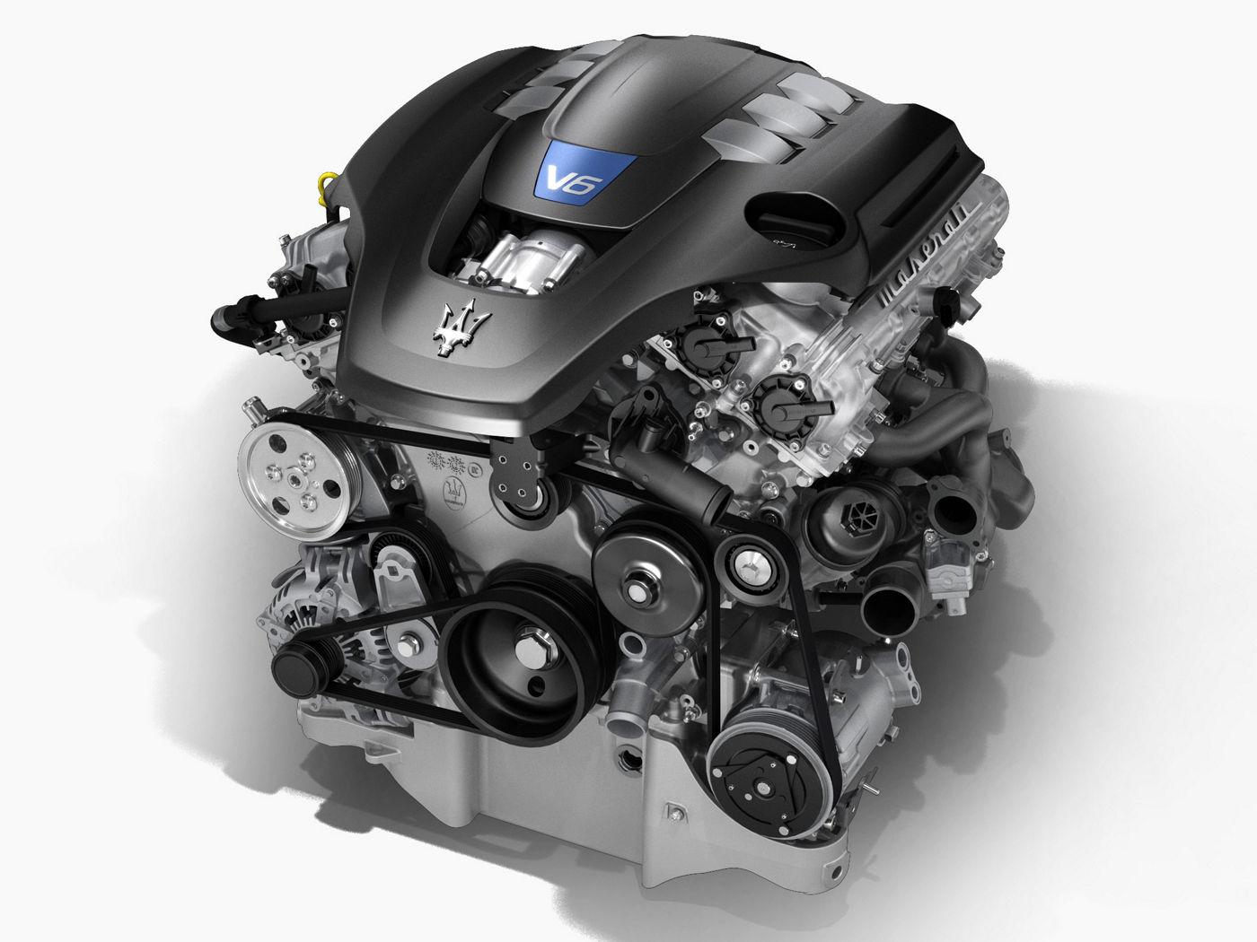 The all Italian Maserati Quattroporte V6 Engine: horsepower, cc and structure