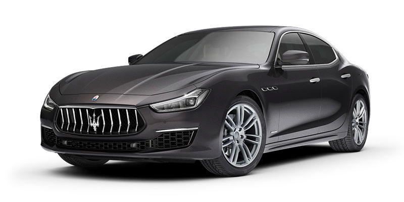 Maserati Ghibli S - front and side view, black