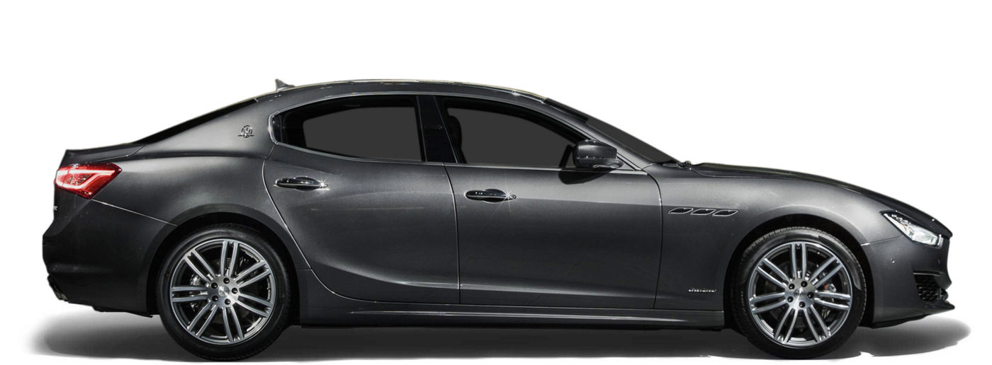 Dark Grey Maserati Ghibli GranLusso - side view
