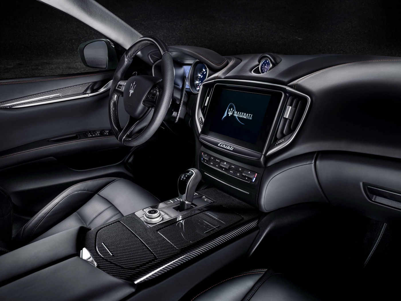 Maserati Ghibli GranSport performance sedans - dashboard and interior design details