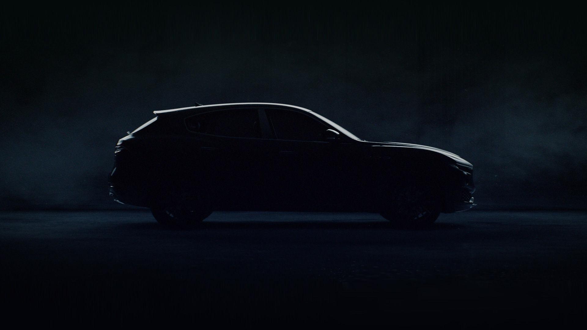 Maserati Levante dark silhouette, right side view