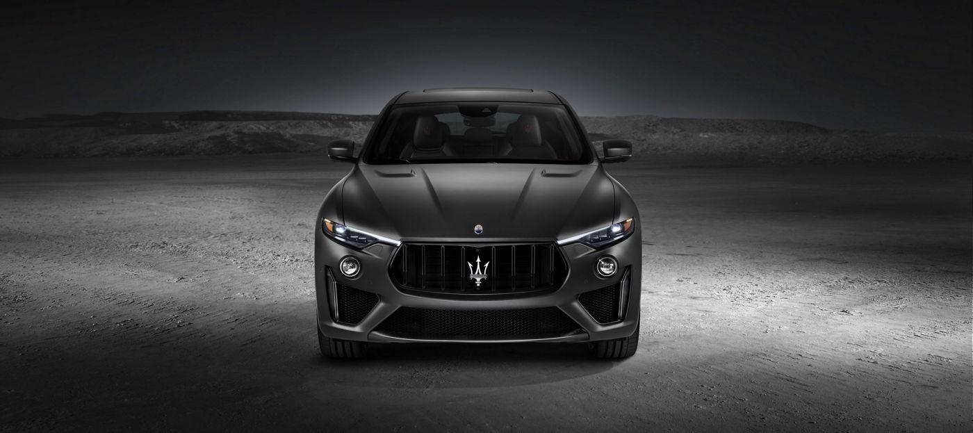 Front view of the new Maserati SUV: Levante Trofeo V8