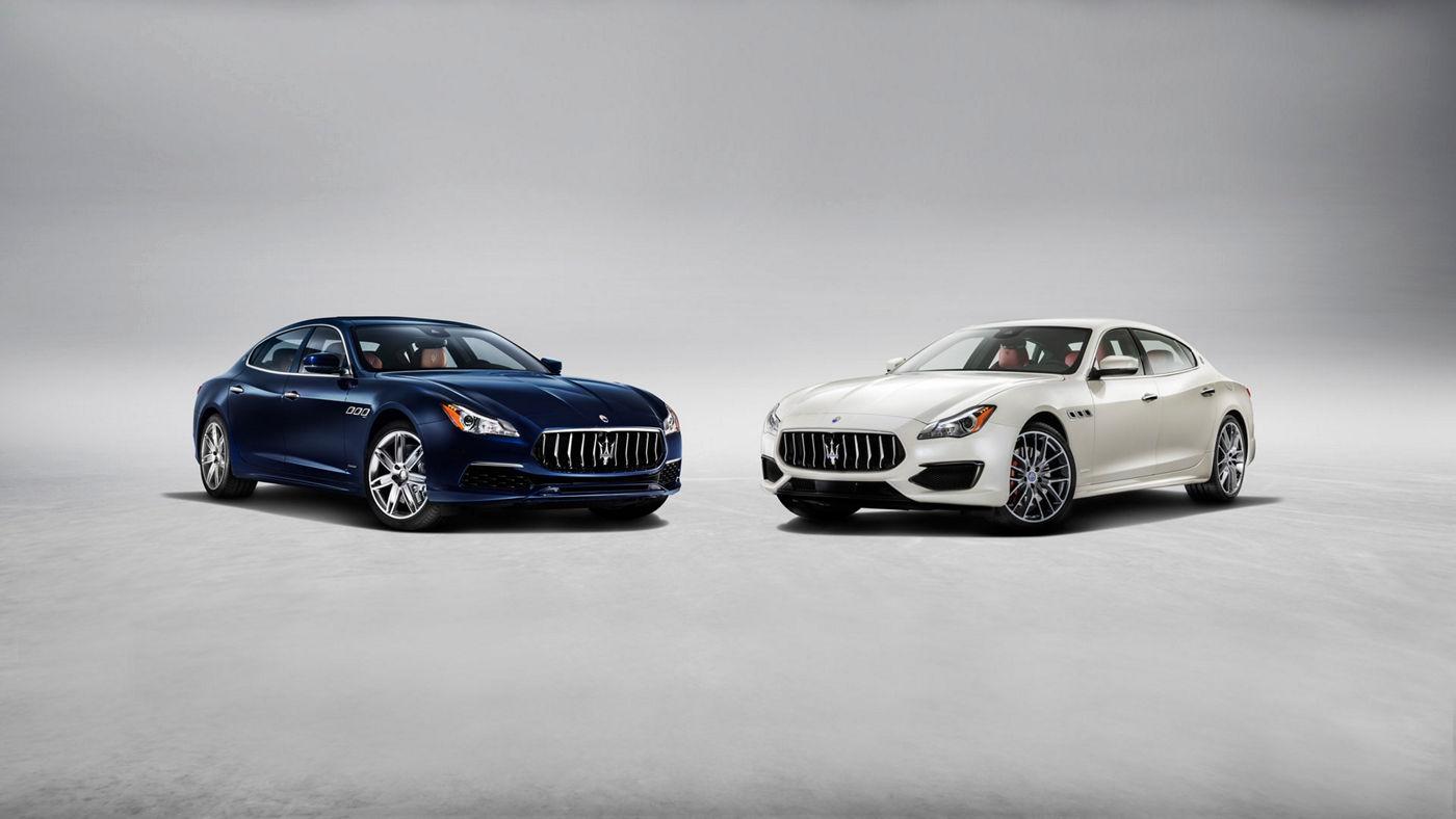 Maserati Quattroporte GranLusso et GranSport - Blu et Bianco