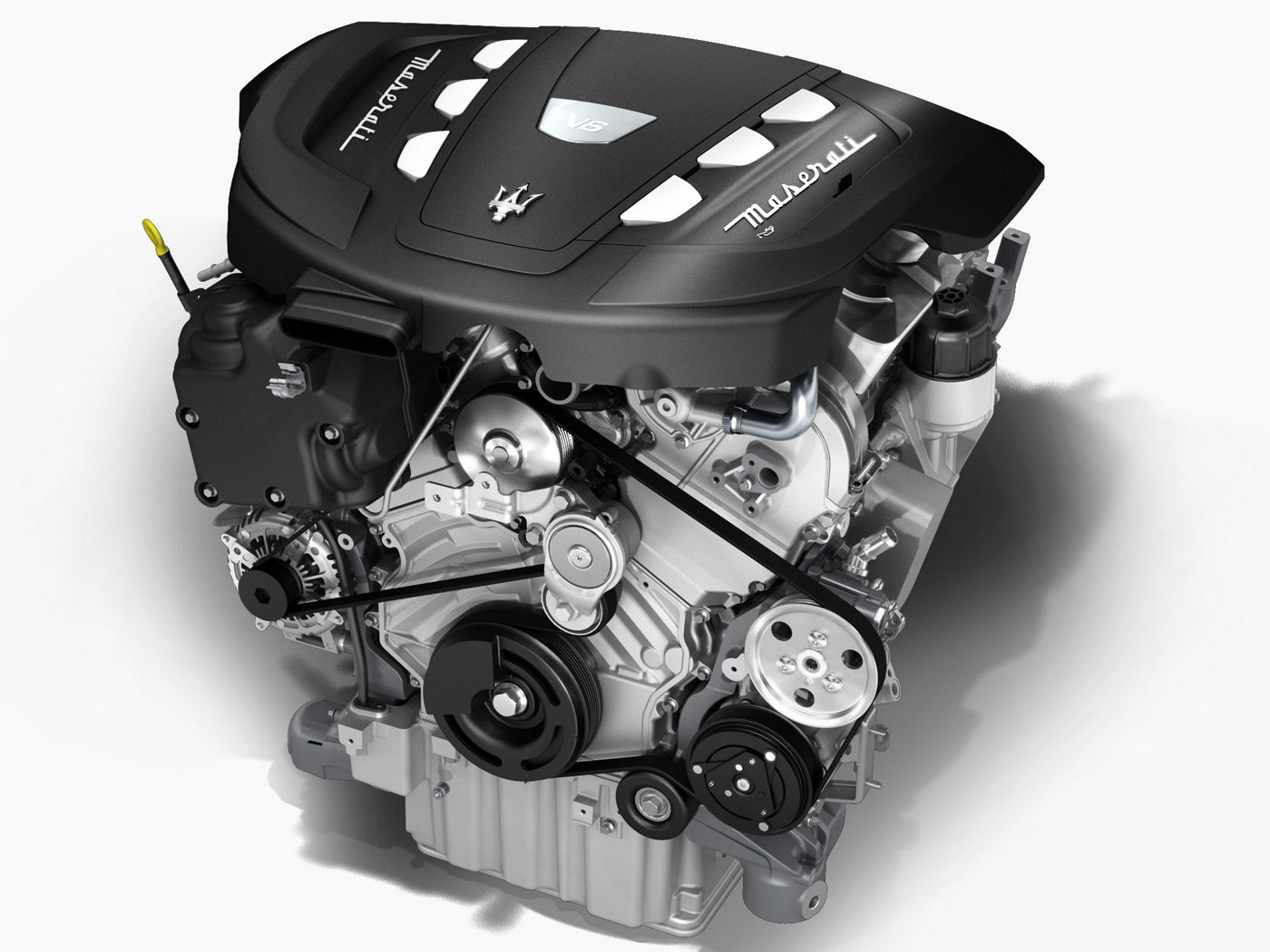 Maserati Quattroporte diesel engine - Twin turbo V6 - details and structure