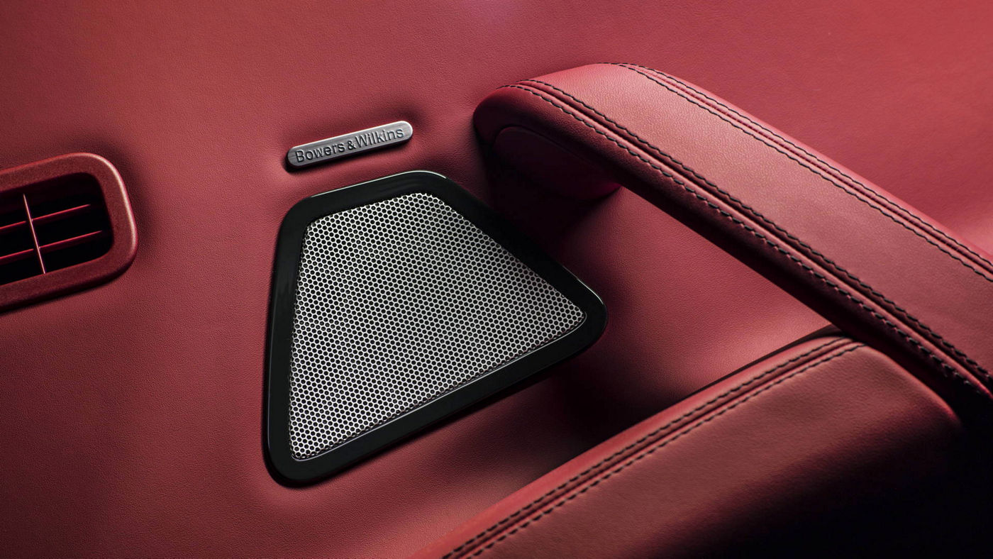 Maserati Quattroporte GranSport interior: Bowers & Wilkins Surround Sound system detail
