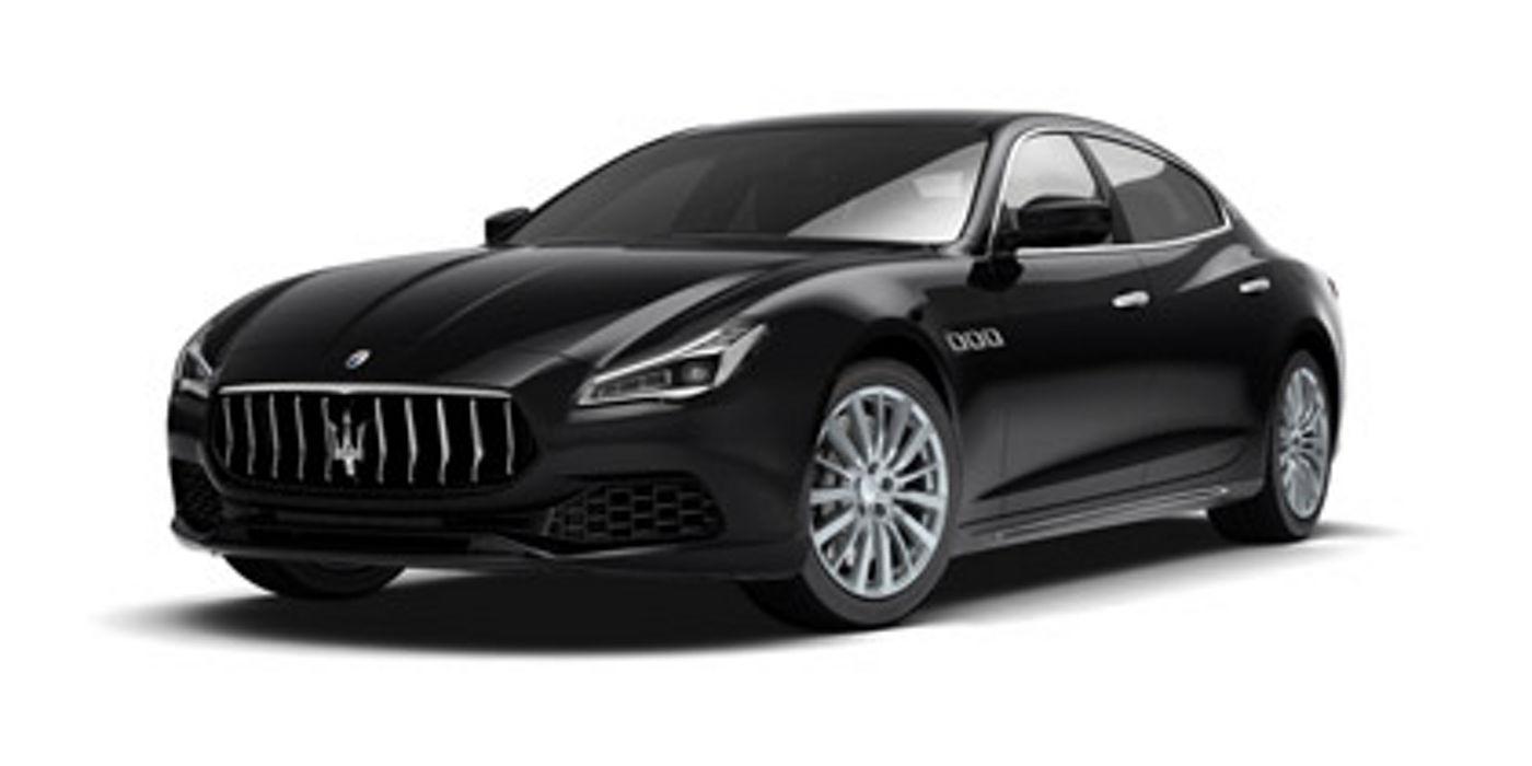 Black Maserati Quattroporte Diesel left side view